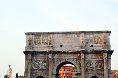 Arch in Rome City, Italy.  Royalty Free Stock Images