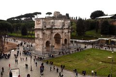 Arch in Rome, Italy royalty free stock photography