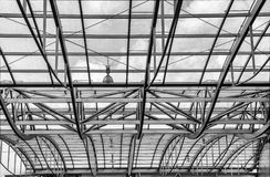 Arch roof  and ceiling on gallery. Structure Royalty Free Stock Photography