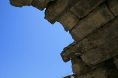 Arch of ruins of the Olympia Royalty Free Stock Images