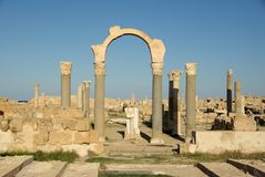 Arch in Sabratha, Libya royalty free stock image