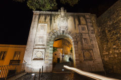 Arch in Saint George`s Castle area in Lisbon. Lisbon, Portugal Royalty Free Stock Photography