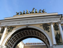 Arch in Saint-Petersburg Royalty Free Stock Photos