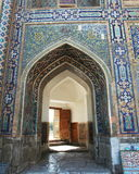 Arch in Samarkand palace Stock Image