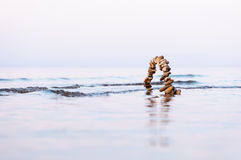 Arch in the sea Royalty Free Stock Image