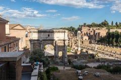 The Arch of Septimius Severus stock photos