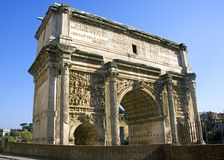 Arch of Septimius Severus barbarian Roman Forum Stock Photography