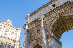 Arch of Septimius Severus Royalty Free Stock Photo