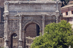 Arch of Septimius Severus. Frontal view of the arch of Septimius Severus Royalty Free Stock Photography