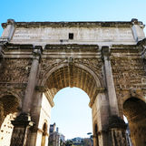Arch of Septimius Severus. At roman forum, Rome Stock Photography
