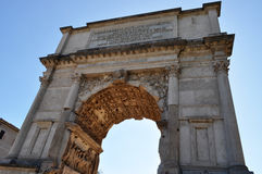 Arch of Septimius Severus, Roman Forum Stock Photo