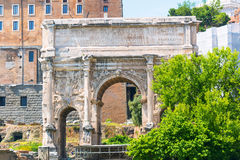 The Arch of Septimius Severus in Roman Forum, Rome Royalty Free Stock Photos