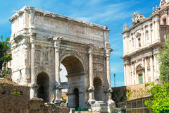 The Arch of Septimius Severus in Roman Forum, Rome Royalty Free Stock Images