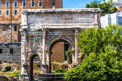 Arch of Septimius Severus in Roman Forum, Rome. The Arch of Septimius Severus in Roman Forum, Rome, Italy Stock Photography