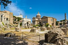 Arch of Septimius Severus in Roman Forum, Rome. Rome, Italy - August 31, 2017: Arch of Septimius Severus in Roman Forum, Rome Stock Photos