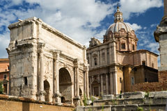 Arch of Septimius Severus, Rome Royalty Free Stock Images