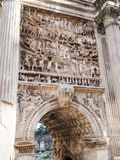 Arch of Septimius Severus in Rome. Detail of Arch of Septimius Severus in Rome Royalty Free Stock Photos