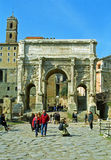 Arch of Septimius Severus, Rome, Italy Royalty Free Stock Photo