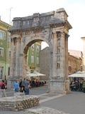 Arch of Sergians Pula Stock Photo