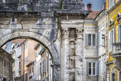 Arch of the Sergii. Antic arch in Pula,Croatia Stock Image