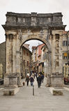 Arch of the Sergii (Golden gate) in Pula. Croatia Royalty Free Stock Images