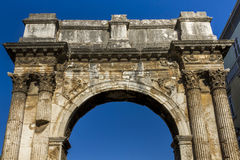 Arch of the Sergii - Pula, Croatia Royalty Free Stock Images