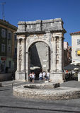 Arch of the Sergii in Pula Stock Photos