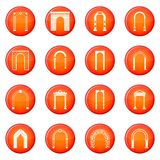Arch set icons vector set Stock Photos
