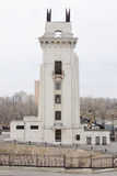 Arch side view of the Volga-Don Canal Lenin, gateway 1, Volgograd Royalty Free Stock Images