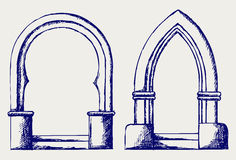 Arch sketch Stock Images