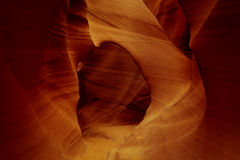 The arch in a Slot Canyon Royalty Free Stock Photography