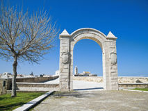 The Arch of the Small Fort. Trani. Apulia. Royalty Free Stock Photo