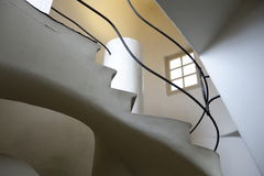 Arch and spiral staircase. In Casa Battlo, Barcelona stock photo