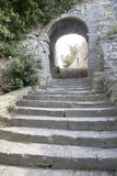 Arch and Stairs on Hill, Bonnieux Village Royalty Free Stock Photos