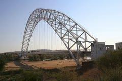 Arch steel bridge Royalty Free Stock Image