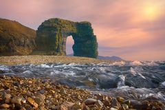 Arch of Steller. Massive stone arch Royalty Free Stock Photography