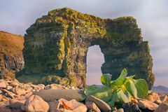 Arch of Steller. Massive stone arch Royalty Free Stock Photos
