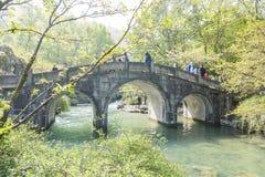 Arch stone bridge Stock Photography