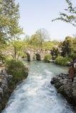 Arch stone bridge Stock Photo
