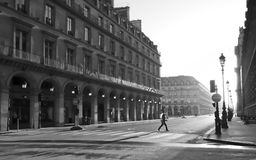 Arch in street of Rivoli  in Paris Royalty Free Stock Photography