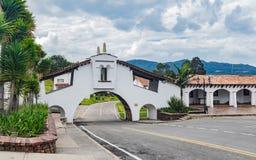 Arch on street in Guatavita royalty free stock photos