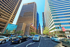 Arch Street and traffic in Philadelphia Stock Photography