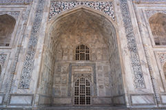 Arch the Taj Mahal and texture of the building Royalty Free Stock Photography