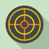 Arch target icon, flat style. Arch target icon. Flat illustration of arch target vector icon for web design Royalty Free Stock Photography