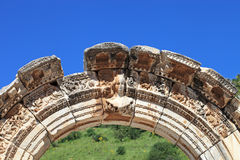 Arch of temple of hadrian Stock Photography