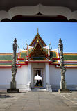 Arch of thai temple. Bangkok, Thailand royalty free stock photography