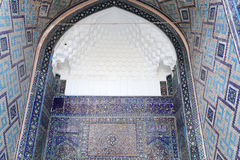 Arch of Tilya Kori Madrasah Royalty Free Stock Photo