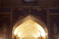 Arch in Tilya Kori Madrasah Royalty Free Stock Photography