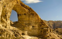 Arch in Timna Park, Israel. The shot was taken in the national geological Timna park, Israel Royalty Free Stock Image
