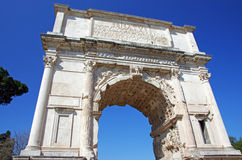 Arch of Titus. In Rome Stock Photography